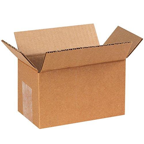 "UPC 190651148906, Partners Brand P744 Corrugated Boxes, 7""L x 4""W x 4""H, Kraft (Pack of 25)"