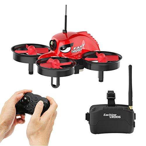 EACHINE FPV Drone with Goggles E013 Micro FPV RC Drone Quadcopter with 5.8G 1000TVL 40CH Camera VR006 VR-006 3 Inch Goggles