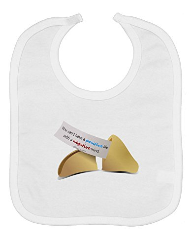 TooLoud Positive Life - Fortune Cookie Baby Bib - White ()