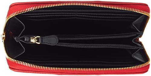 Quilted Moschino Love Nappa Rosso Pu Portefeuilles Portafogli Rouge a64wZ