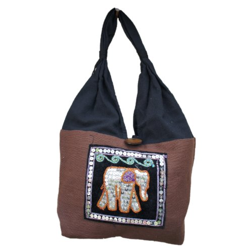 BOHO EMBROIDED BAG Red Brown COTTON ELEPHANT BAG SMALL THAI TRAVEL TRIBAL 100 PURSE HIPPIE Eq0SxnwBC