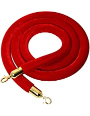 YaeTool Velvet Stanchion Rope 8Ft Stanchion Queue Barrier Rope Velvet Rope Crowd Control Rope Barrier