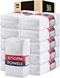 Utopia Towels Cotton Bulk Washcloths - Pack of 360 - Small Towels - White