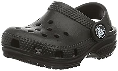 crocs Kids' Classic K Clog, Black, 1 M US Little Kid
