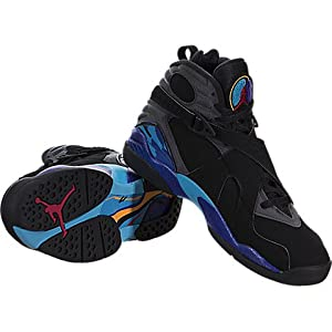 Nike Air Jordan Mens Retro VIII Aqua 8 Basketball Shoes (9)