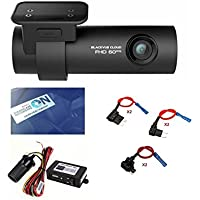 BlackVue New DR750S-1CH 128GB, Car Black Box/Car DVR Recorder with Power Magic Pro, Built-in Wi-Fi, Cloud, 1080p Full HD, 60FPS, G Sensor, GPS, 128GB SD Card + Fuse Tap + HDVD Warning Sign