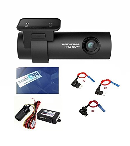 HDVD BlackVue DR750S-1CH 16GB, Car Black Box/Car DVR Recorder with Power Magic Pro, Built-in Wi-Fi, Cloud, 1080p Full HD, 60FPS, G Sensor, GPS, 16GB SD Card Included Fuse taps + Fuses