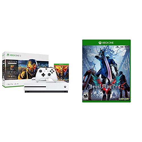 Xbox One S 1TB Console – Anthem Bundle with Devil May Cry 5