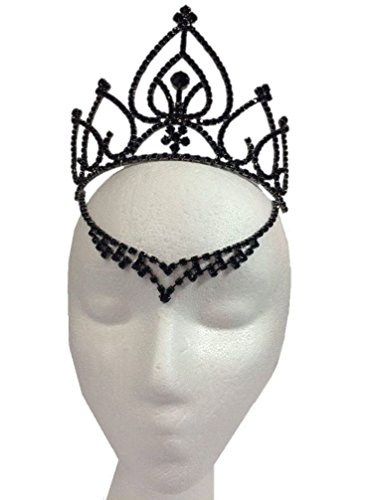 Black Fairy Tiara Medieval V Drop Queen of Hearts Halloween Costume Accessory - King Of Hearts Costume Accessories