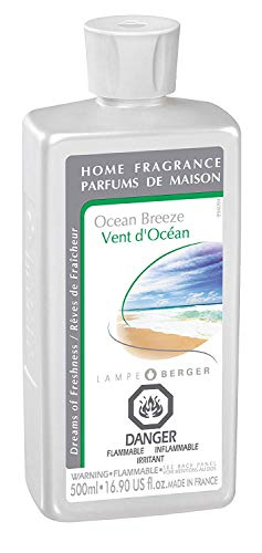 Ocean Breeze | Lampe Berger Fragrance Refill for Home Fragrance Oil Diffuser | Purifying and perfuming Your Home | 16.9 Fluid Ounces - 500 millimeters | Made in France ()