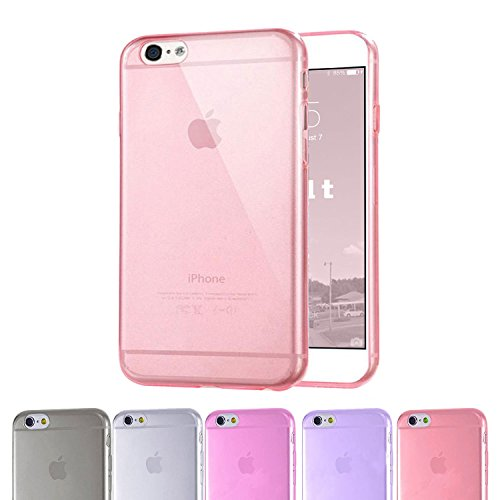 Iphone 6 Case, 4.7 Inch Ultra Slim 0.5mm Case / Super Transparent Skin Scratch-proof TPU Back Cover (Does NOT Fit Apple I Phone 5 5s 5c 4 4s or Plus 5.5 Inch Screen) - Lifetime Guarantee (Pink)