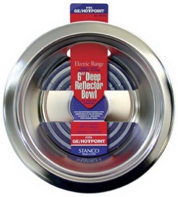 Stanco Deep Reflector Bowl Fits Ge / Hotpoint Ranges Chromed Steel, Porcelain 6 In. (Metal Stanco)