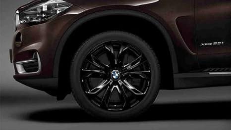 Original BMW X5 F15 Invierno Completo juego de ruedas Estrella radios 491 Negro Brillante.