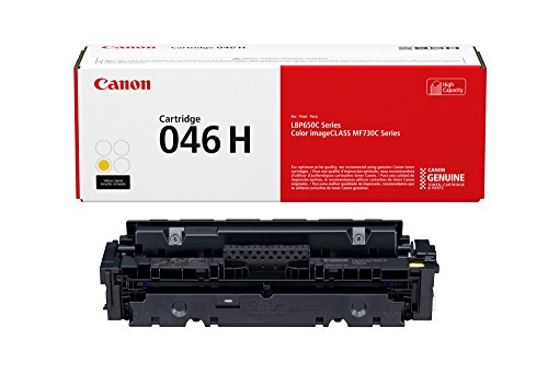 Canon 046 High Capacity Toner Cartridge (Yellow, 1 Pack) in Retail Packaging