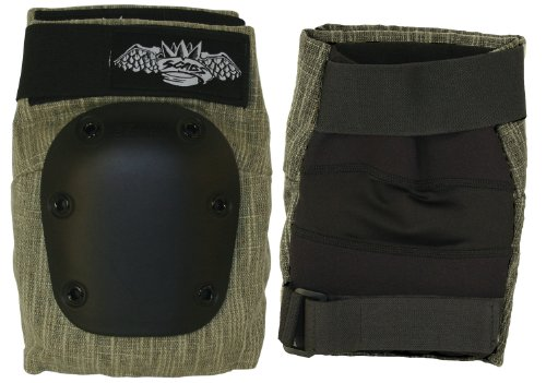 Smith Safety Gear Crown Hemp Park Knee Pad, Olive, Medium
