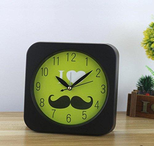 - OOFAY Fashion Beard Alarm Clock Creative Simple Jump Seconds Alarm Clock Cute Cartoon Children Bedside Alarm Clock , d