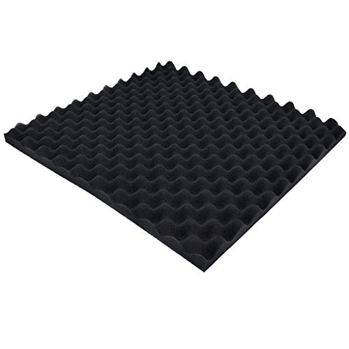 Tuscom Acoustic Foam Panel Soundproofing Wall Tiles Sound Stop Absorption Sponge Eggcrate Wedges Sound Insulation Foam Padding Studio KTV Sound Dampening Wall Sticker Pad, 19.69