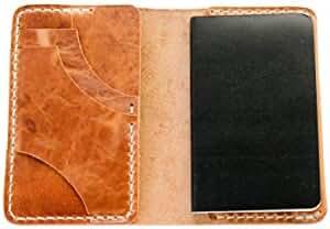 Luxury Hand-Made Leather Wallet by Rose Anvil – Slim Front Pocket Wallet Genuine Leather – Minimalist Card & Cash Holder for Men – The Ambrose