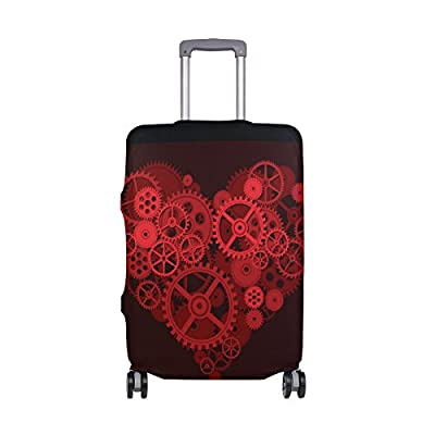 durable modeling Tool Heart Luggage Cover Elastic Suitcase Protector Fits 18-32 Inch