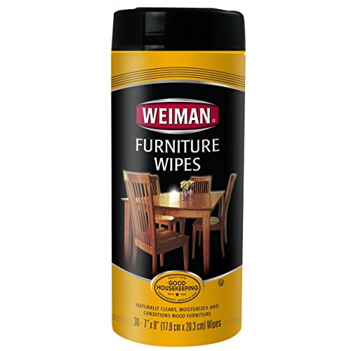 Price comparison product image Weiman Furniture Wipes, Beautify & Protect, No Build-Up, Contains UVX-15, Pleasant Scent, Surface Safe – 30 count