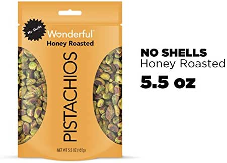 Nuts & Seeds: Wonderful Pistachios No Shells Honey Roasted
