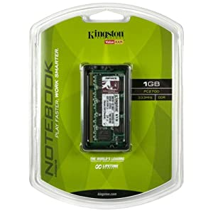 Kingston ValueRAM 1GB 333MHz DDR Non-ECC CL2.5 SODIMM Notebook Memory