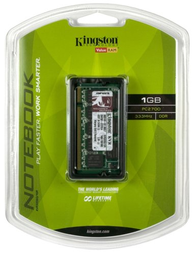 (Kingston ValueRAM 1GB 333MHz DDR Non-ECC CL2.5 SODIMM Notebook Memory)