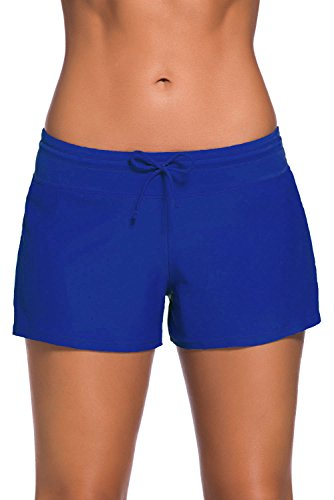- Aleumdr Women's Swim Boardshort Bottom Shorts Swimming Panty Blue X-Large