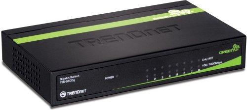 TRENDnet 8-Port Unmanaged Gigabit GREENnet Desktop Metal Hou