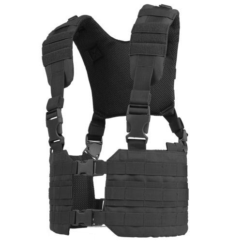 (CONDOR MCR7 MOLLE Tactical Ronin Chest Rig Split Vest- Black MCR7-002)