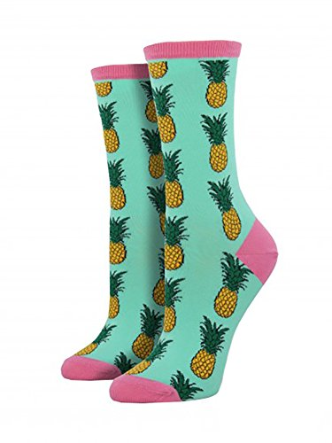 Socksmith Womens Pineapple Wintergreen, Multi, One (Pineapple Jewelry)