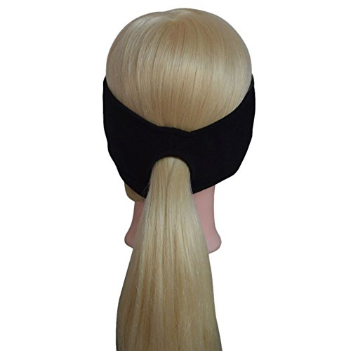 Stretchy Non Slip Ponytail Headband Sports Sweatband Great For Workout Running Yoga Cycling (Tail Scarf Headband)