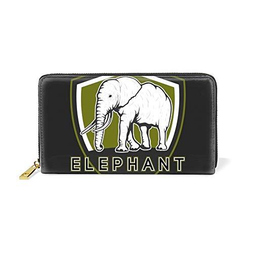 Women Zipper Wristlet Wallet Elephant Logo Template Designer Clutch Purse  Phone Credit Card Holder 0bdc5ba9eea3a