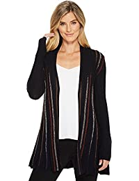 Women's Black and Blue Cardy