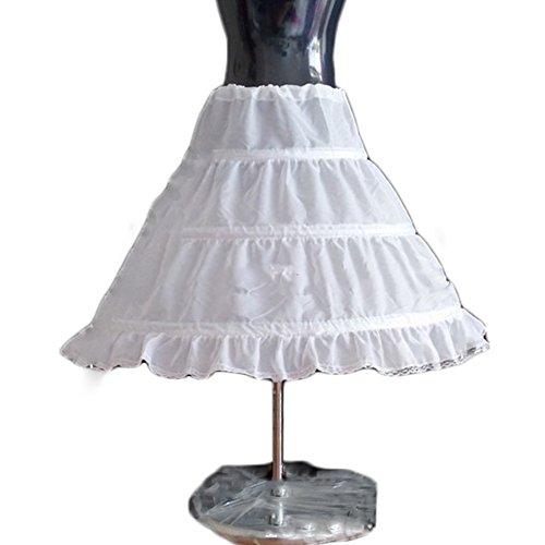 Sunzeus 3 Hoops Kinder Petticoat Günstige Underskirt für Blumenmädchen Hochzeit Zubehör