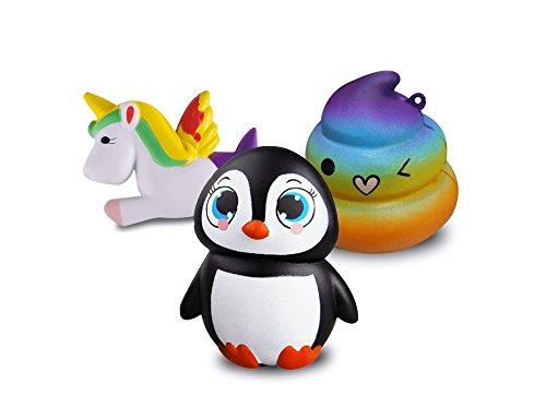Squishy Unicorn Poop : Galleon - Jumbo Slow Rising Squishies - Kawaii Penguin + Unicorn + Poop Emoji Large Squishy ...