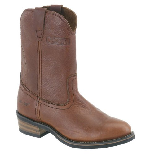 (AdTec Mens 11in Western Ranch Wellington Boots Tumble Brown Size 8.5 D(M) US)