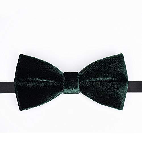 WATERMELON Textura de Terciopelo Oscuro Verde Hecho a Mano Corbata ...