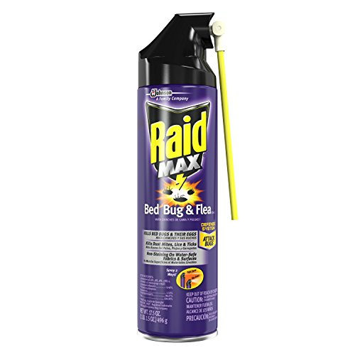Raid 73002 Max Bed Bug & Flea Killer I, 17.5 oz