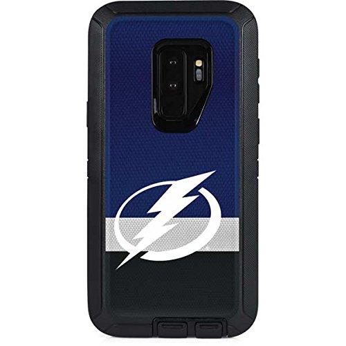 Nhl Skin - Skinit NHL Tampa Bay Lightning OtterBox Defender Galaxy S9 Plus Skin - Tampa Bay Lightning Alternate Jersey Design - Ultra Thin, Lightweight Vinyl Decal Protection