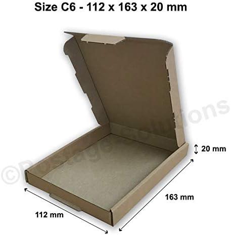 AKAR DL 220 x 110 x 20 mm Brown PIP Cardboard Large Letter Postal Box for Royal Mail 50