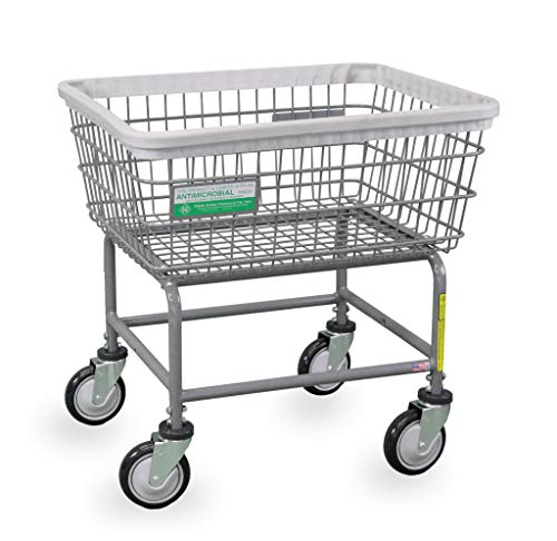 Laundry Carts R&b - R&B Wire 100E/ANTI Antimicrobial Wire Laundry Cart
