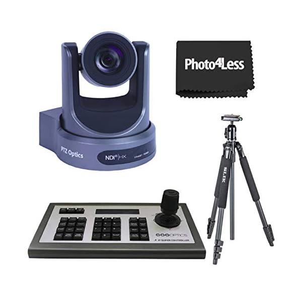 PTZOptics NDI Network Broadcast Camera PTZOptics 4D IP Joystick Controller Gen3 Slik Sprint 150 Aluminum Tripod