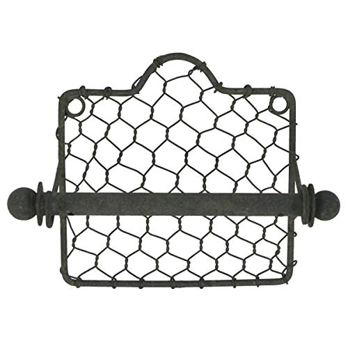 Shop-24 BestShop Toilet Paper Holder Vintage Country Style Wire DIY Decor -