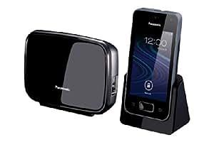 Panasonic KX-PRX150SPB - Teléfono fijo digital (WiFi, modo nocturno, conexión a PC, monitor de bebé), color negro
