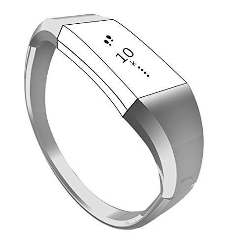 Metal Accessory Bands for Fitbit Charge 2, Classy Jewelry Bangle (Christmas Bangle Watch)