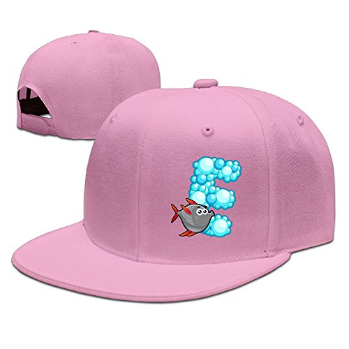 Price comparison product image ZOENA Ocean Animal Alphabet E Puffer Fish Cotton Hats Jogging Hat For Outdoor Sports Pink