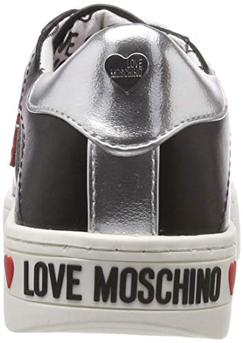 Zapatos Cassetta 35 Argento Scarpa Sneaker Cuero Mujer Nero Love Vit Moschino 5wBXBT