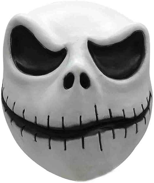 QQWE Máscara Jack Skellington Cosplay, Pesadilla Antes de Navidad ...