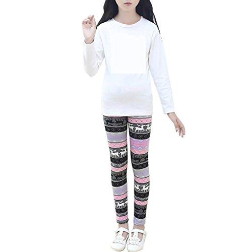 HOT ! YANG-YI Christmas Children Trousers Printing Leggings Flower Baby Girls Pencil Pants (146-155CM/12-13T, - 152 13